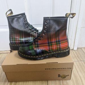 Dr Martens ombre tartan plaid boot